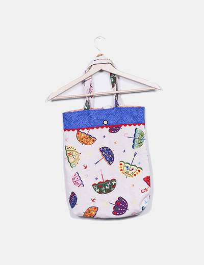 dc783bdd611 NoName Bolso shopper de tela estampado paraguas (descuento 84%) - Micolet