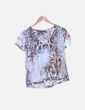 Blusa animal print escote pico Zara