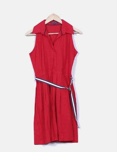 Vestido rojo navy con cinturón Wild Country
