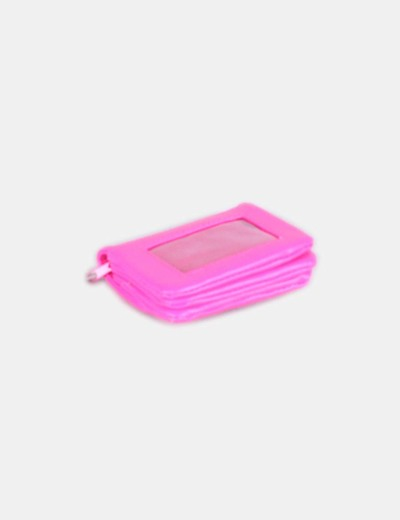 Monedero rosa fluor