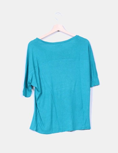 Camiseta verde fluida