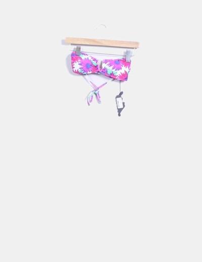 Parte superior bikini floral fucsia Motel