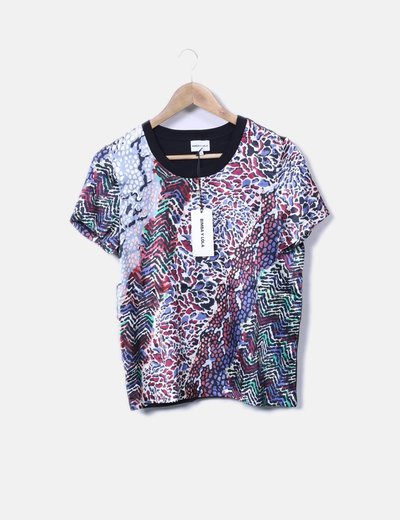 Camiseta animal print multicolor Bimba&Lola