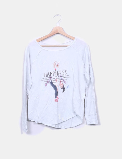 Top gris print Happyness Oysho