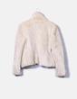 Abrigo beige corto de pelo sintético Zara