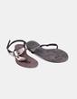Sandales plates argentées Suiteblanco