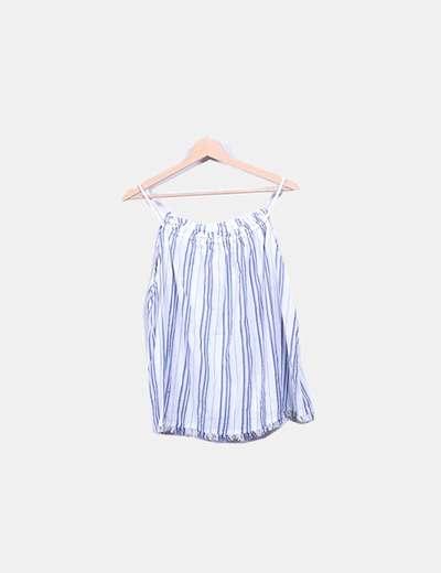 Blusa blanca rayas