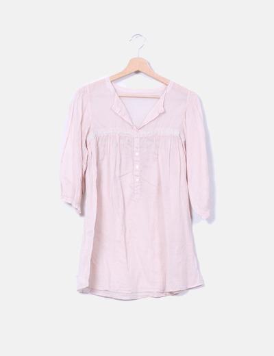 Camisa rosa palo