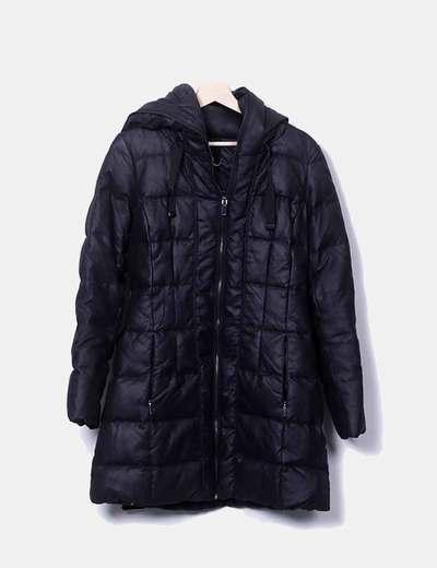 Plumas negro capucha Zara
