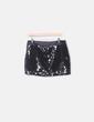 Mini falda paillettes negro H&M