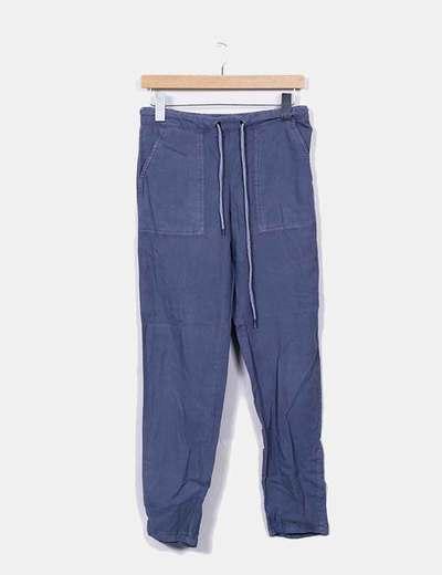 Pantalon gris Mango