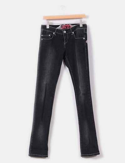 Jeans pitillo negro  Desigual