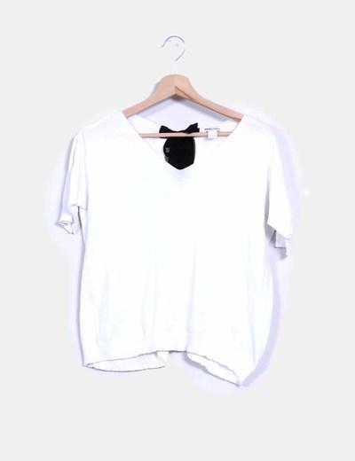 Suéter tricot blanco con lazo Suiteblanco