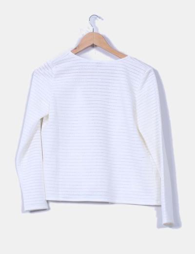 Cardigan texturizado blanco
