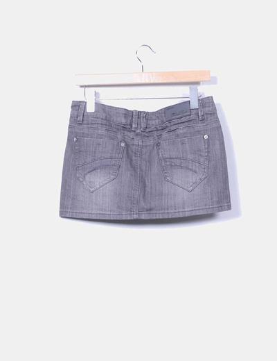 Mini falda gris