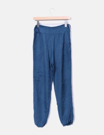 Pantalon baggy de tela