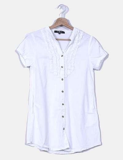 Camisa blanca de manga corta Sky Republic