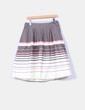 Falda midi tricolor H&M