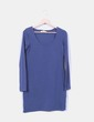 Vestido básico azul marino manga larga Clockhouse