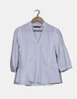 Camisa blanca con manga francesa Zara