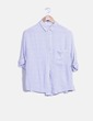 Blusa de rayas blanca y azul Pull&Bear