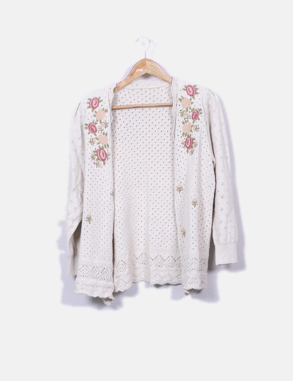 y Abrigos NoName con online baratos floral Chaqueta de bordado crudo 05PwqUn