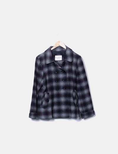 Veste noire à carreaux Easy Wear