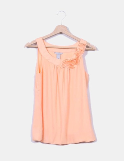Camiseta con rosas naranja H&M