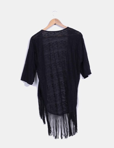 Primark kimono negro de encaje con flecos descuento 64 - Primark fundas movil ...