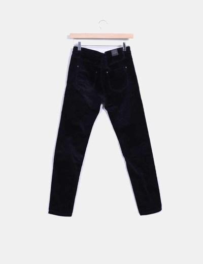 Pantalon de pana negro