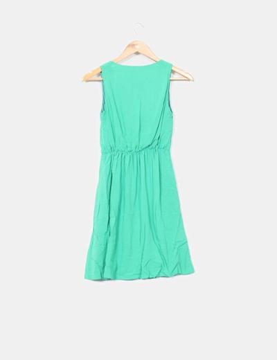 Vestido verde fluido