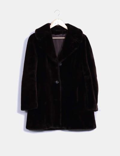 Abrigo marrón de pelo michel alexis
