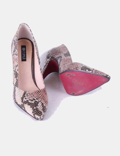 Zapato print serpiente