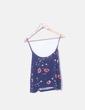 Camiseta azul print floral Stradivarius