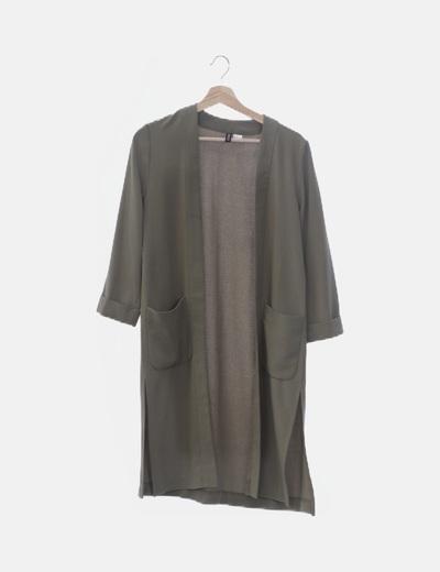 Kimono verde fluido