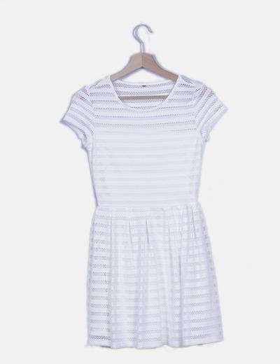Vestido troquelado blanco