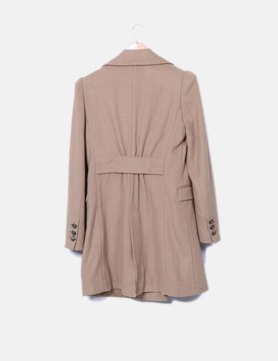Abrigo largo masculino marron