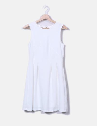 Kleid Strukturierten Weißes Kleid Weißes Mit Trägern shrxtQdC