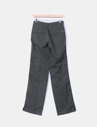 Pantalon verde jaspeado