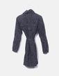 Abrigo negro print gris Vero Moda