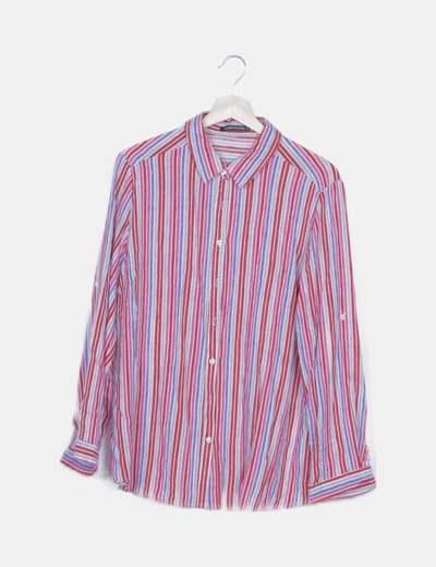 Camisa raya multicolor