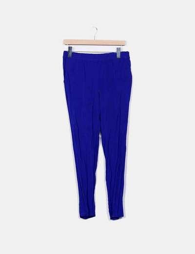 Pantalon bleu Mango