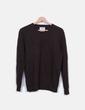 Jersey de lana marrón oscuro Springfield