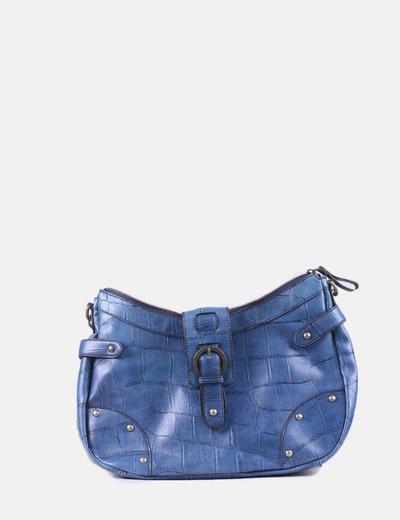 Bolso azul combinado