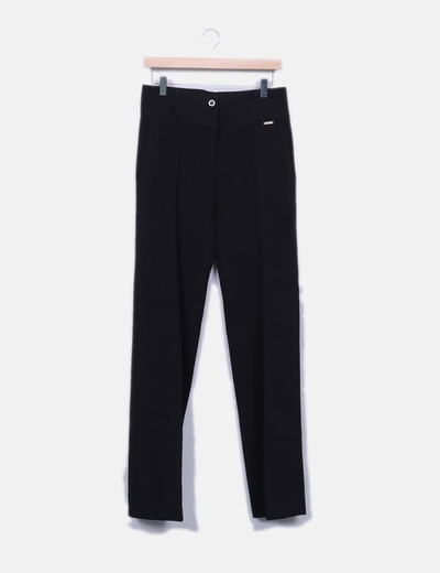 Pantalón traje palazzo negro