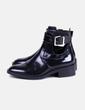 Botín negro hebilla Zara