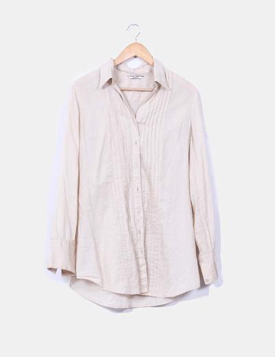 Camisa camel Stradivarius