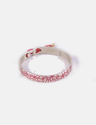 Bracelet floral en or Ras