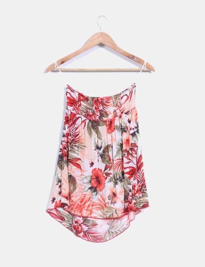 Blusa con estampado floral multicolor