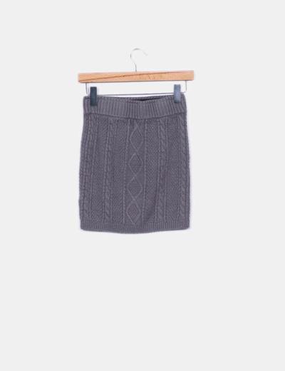 31894ef7e Falda de punto gris